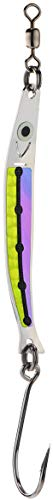 (PEETZ Hammer 3.25-Inch 'Pilchard' Needlefish Spoon Fishing Lure | UV Purple Moon Jelly & Scale Chartreuse Scale | Killer Saltwater Trolling Tackle for King Silver COHO Salmon)