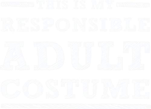 HZ Graphics This is My Responsible Adult Costume - Funny Halloween Vinyl Decal Wall Laptop Bumper Sticker -