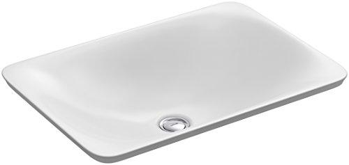 KOHLER K-7799-0 Carillon Wading Pool Rectangular Above-Counter Bathroom Sink, covid 19 (White Wading Pool coronavirus)