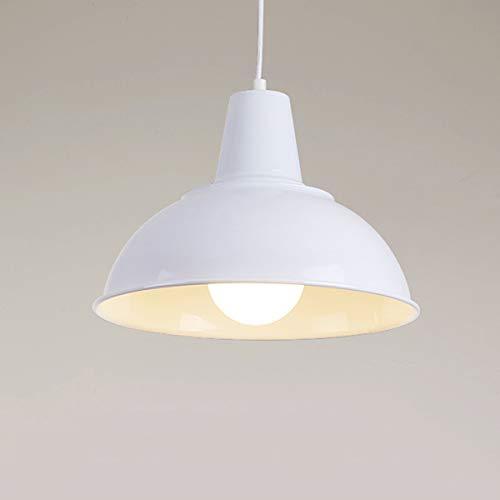 NANGE Loft Chandelier,Industrial Creative Arts Ancient Single Head Pendant Lights,Black Dress Droplight,E27(Without Light Source) (Color : White, Size : AC 110V) by NANGE (Image #1)