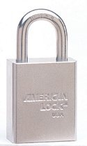 (Steel Padlocks (Square Body w/Tubular Cylinder), 5/16 in Diam., 1 1/8 in Long (3 Pack) )