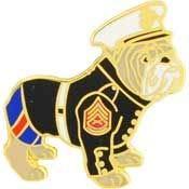 - USMC, Bulldog Dressed - Premium Quality, Expertly Designed, PIN - 1.0625