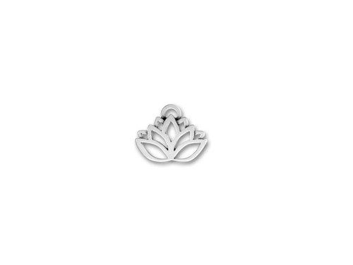 Lead Free Pewter Pendant (10 pcs Lotus Flower Yoga Lead free Pewter Flower Charm Pendants)