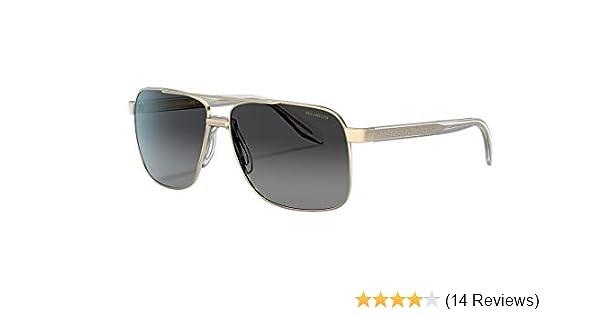 New VERSACE Sunglasses VE 2174 1002//Z3 Polarized Gold//Grey Silver Mirror for Men