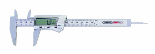 General Tools 146 Fraction Plus Digital Fractional Caliper, Carbon Fiber, 6-Inch