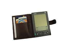 Leather Organizer Pda (Brown Leather PDA Case with Velcro Closure (#300-02) by Amerileather)