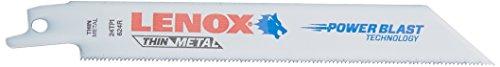- LENOX Tools Bi-Metal Reciprocating Saw Blade, General Purpose, 6-inch, 24 TPI, 25-Pack (20496B624R)