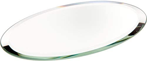 Plymor Oval 3mm Beveled Glass Mirror, 3 inch x 5 inch Pack of 24