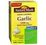Nature Made Garlic 1250mg, 200 Odorless Tablets (Pack of 2) by Unknown