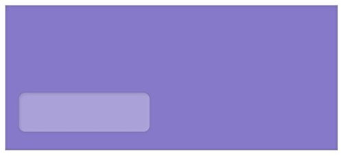 - #10 Astrobright Venus Violet Envelopes - Poly Window, 60T, 2500 Pack