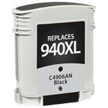 Reman HP 940XL Black Chipped, C4906AN (#940XL)