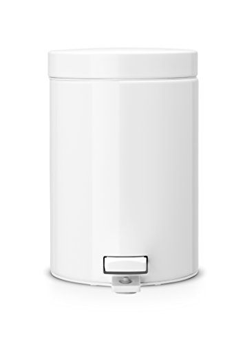 Brabantia Step Trash Can 0.7 gallon/3 liter - White by Brabantia