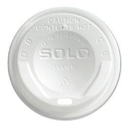 SOLO Cup Company Gourmet Hot Cup Lids, For Trophy Plus Cups, 12-16 oz, White, 1500/Carton SCCLGXW2