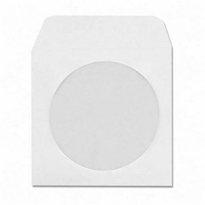 1000 Pack Maxtek White Paper CD DVD Sleeves Envelope Holder with Window Cut Out and Flap