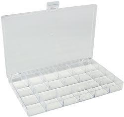 Bulk Buy: Darice Plastic Storage Box 10.5'X6.5'X.875' 21 Compartment (3-Pack)