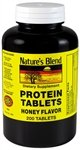 Protein Supplement (Natures Blend Protein Tablets Honey Flavor 200 Tablets)