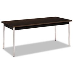 (HON Utility Table, Rectangular, 72W X 30D X 29H, Mocha/Black)