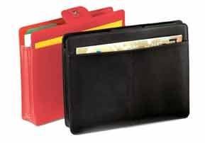 Standard Accordion File Folder in Black Leather: Florentine Napa
