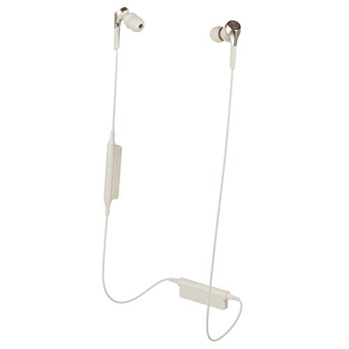 Audio Technica ATH CKS550XBTCG Solid Bass Wireless In Ear Headphones, Champagne Gold
