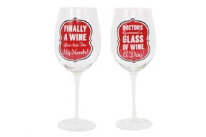 A Glass a Day Extra Large Wine Glass -