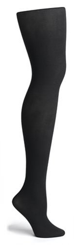 HUE Super Opaque Tights with Control Top Black