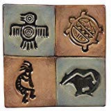 Mayco Clay Native American Design Press Tool Set, 1-3/4 in Dia, Set of 4