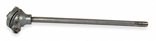 TEMPCO Heavy Duty Thermocouple, Thermocouple Type: J, Temp. Limit (Deg. F): 1200, 18.0