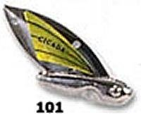 Reef Runner Cicada Lure, 1/2-Ounce, Silver/Chartreuse
