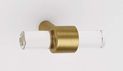 - Alno A860-45-SB Contemporary Acrylic 1-3/4 Inch Long Bar Cabinet Knob