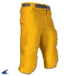 CHAMPRO Youth Slotted Dazzle Football Pant Gold Small