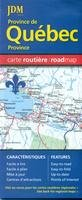 Quebec Province Road Map (English and French Edition)