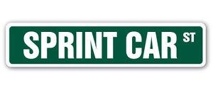SPRINT CAR Street Sign Decal short track race racing helmets dirt gift sprintcar - Love Sprint Car