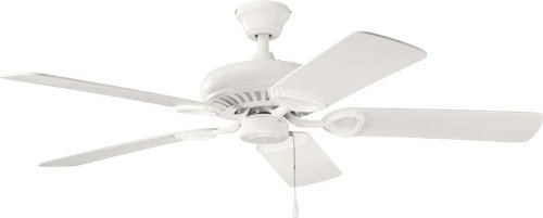 Kichler 339011SNW 52-Inch Sutter Place Fan, Satin Natural White