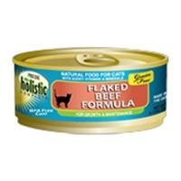 Precise  Holistic Complete Grain Free Flaked Beef Food for Cats, 5.5-Ounce, 24 Count