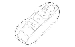 Porsche 958 637 947 02, Remote Control Transmitter for Keyless Entry and Alarm System