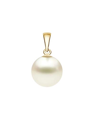 12-13mm Cream South Sea Cultured Pearl Pendant AA+ Quality 14K Yellow Gold