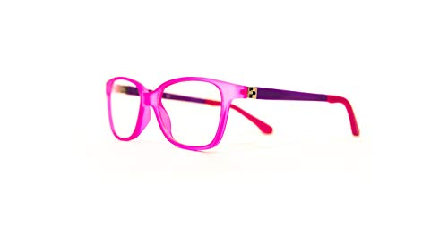 Price comparison product image Anti-Blue Light Glasses Made Especially for Kids / Children / Teens (Pink & Purple)