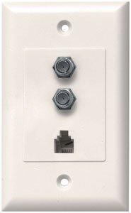 JVI 50-CWPS50 IV 2.2 GHz Dual Coaxial & Phone Wall Plates (Ivory)