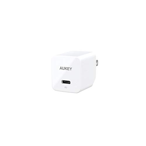 AUKEY PD Charger, USB C Charger with 18W Power Delivery 3.0, Ultra-Compact USB C Wall Charger, Compatible iPhone Xs/Xs Max/XR, Google Pixel 2/2 XL, LG, Huawei and More-White