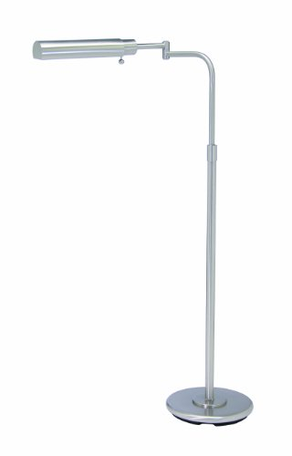 House Of Troy PH100-52-F Home/Office Collection Cylinder Portable Floor Lamp, Satin Nickel