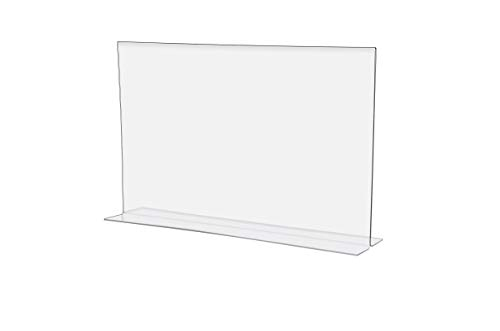 Acrylic Horizontal Bottom Loading Sign Holder For Counter Tops - 17
