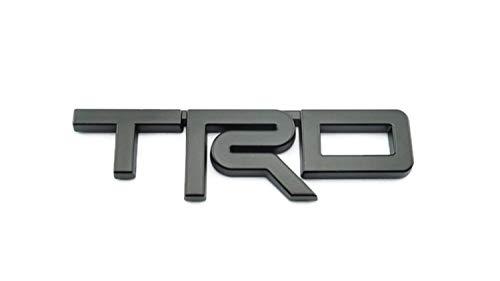 PB-Autoparts Tundra Tacoma 4runner Trd Badge Decal Emblem ABS Matt Black Size 12.5x3.5cm