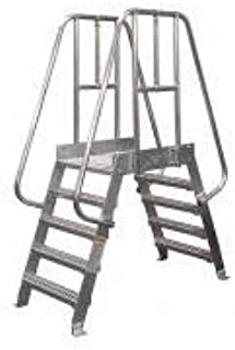 product image for Cotterman 7SPA24A3C50P3 - Crossover Ladder 7 Step Aluminum 98In. H
