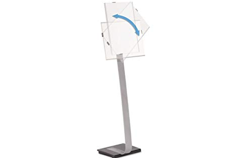 Info Sign Duo Floor Stand Tabloid-Size Inserts 15 x 50 Clear (Info Sign Duo Floor)