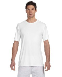 Hanes Cool DRI TAGLESS Men's T-Shirt Short Sleeve T-Shirt, White (Large)