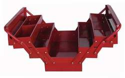 17 Cantilever Tool Box - Westward 10J171 Portable Tool Box, 17Wx8Dx8-1/4H, Red