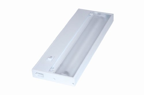 Juno Lighting Group UPF12-WH Pro-Series Fluorescent Under cabinet Fixture, 12-Inch, 2-Lamp, Designer White (Cabinet Under T5 Slim Fluorescent)