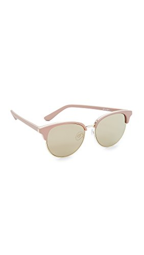 Le Specs Women's Deja Vu Sunglasses, Matte Shell/Gold Revo, One - Le Mirrored Specs Sunglasses