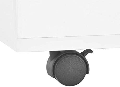 Koop De Nieuwste Mode Tidyard Salontafel met wielen hoogglans verlengbaar banktafel spaanplaat einde bijzettafel woonkamer, huis meubels wit 120 x 60 x 35 cm (L x B x H)  F9gObld