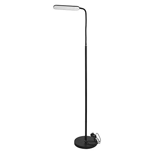 hongXIE5 Adjustable Light Craft Floor lamp, LED Reading and Process Floor Lamp Dimmable Eye Protection Remote Control Switch (Black) (Illumination Floor)
